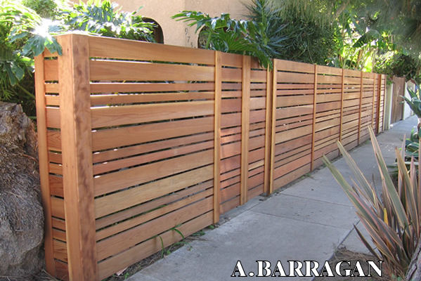 modern semi-solid rail fence